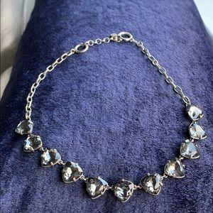 Stella and Dot Somervell Grey Crystal Necklace